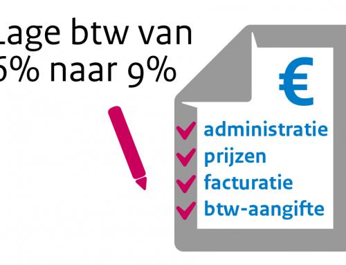 Lage btw-tarief van 6% naar 9%